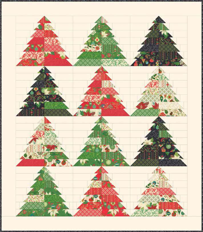 Free Quilt Patterns Christmas Tree : Quilt Inspiration: Free pattern day: Christmas quilts (part 1): Trees!