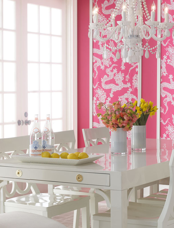 Chinoiserie Chic The Pink Chinoiserie Dining Room