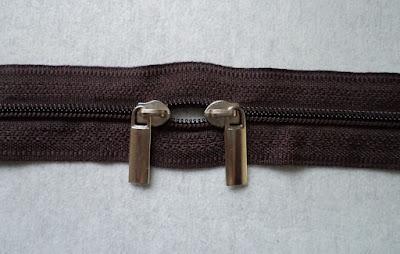 DIY double pull zipper
