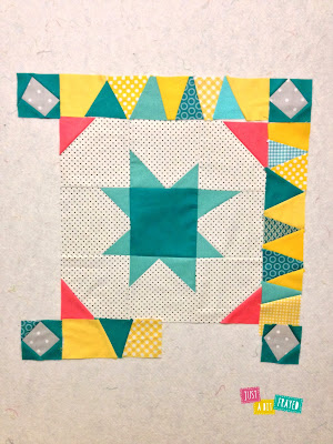 Work in Progress - Modern Medallion Quilt by Just a Bit Frayed