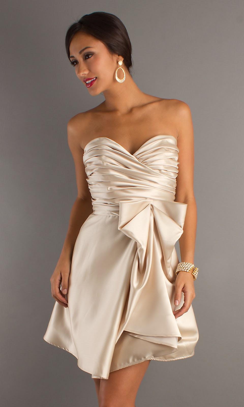 Как сшить короткое атласное платье 4