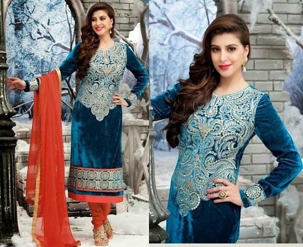 Indian Velvet Clothing Salwar Kameez Designs And Velvet