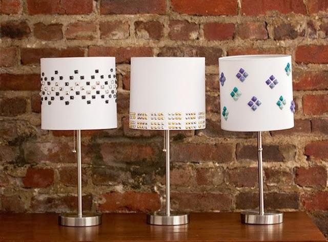 DIY Studded Lamp Shades