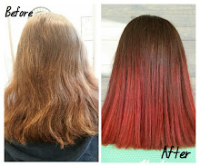 Red Ombre using REDKEN Reds