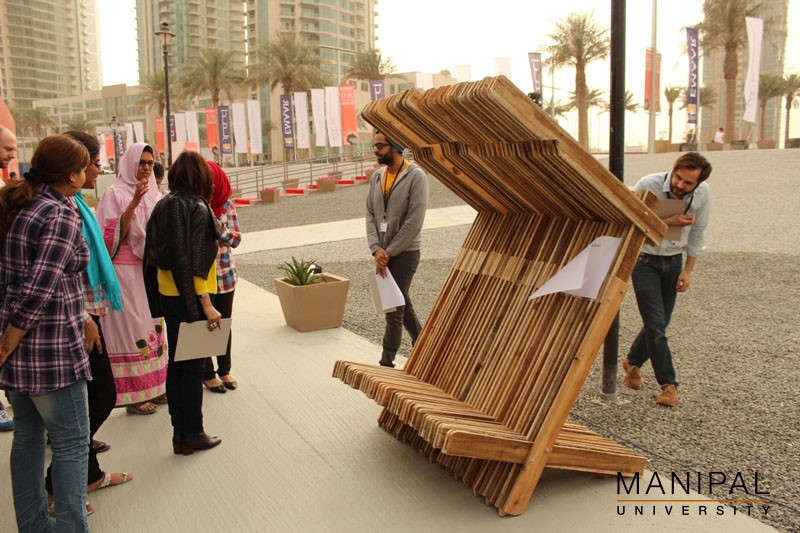 Rec Line  The Winning Piece Made By Manipal Dubai Interior Designing  Students