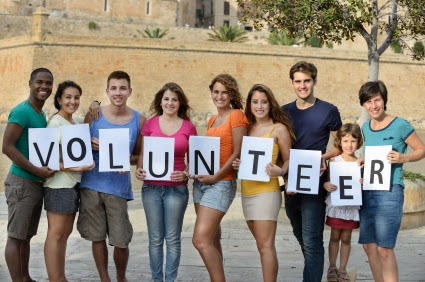 Children and teen volunteers