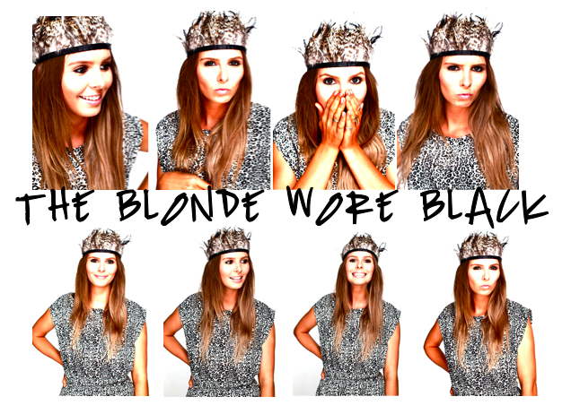 the blonde wore black