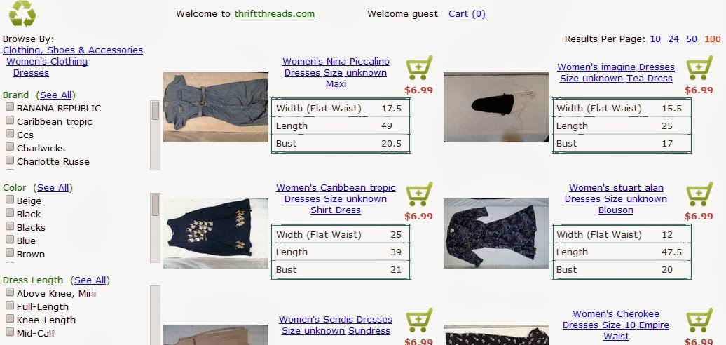 how to start an online thrift store