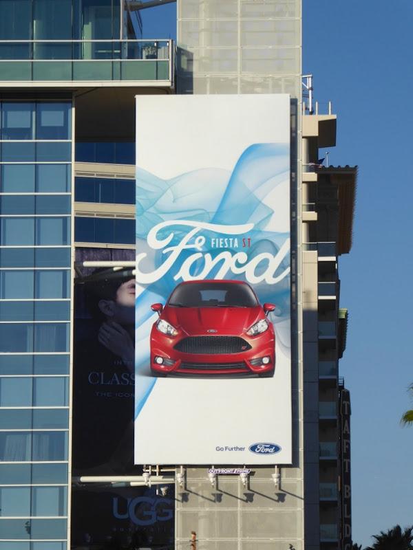 Ford Fiesta ST billboard
