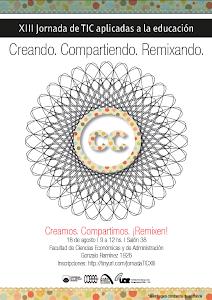 Afiche XIII Jornada de TIC aplicadas a la educación para docentes de la FCEA