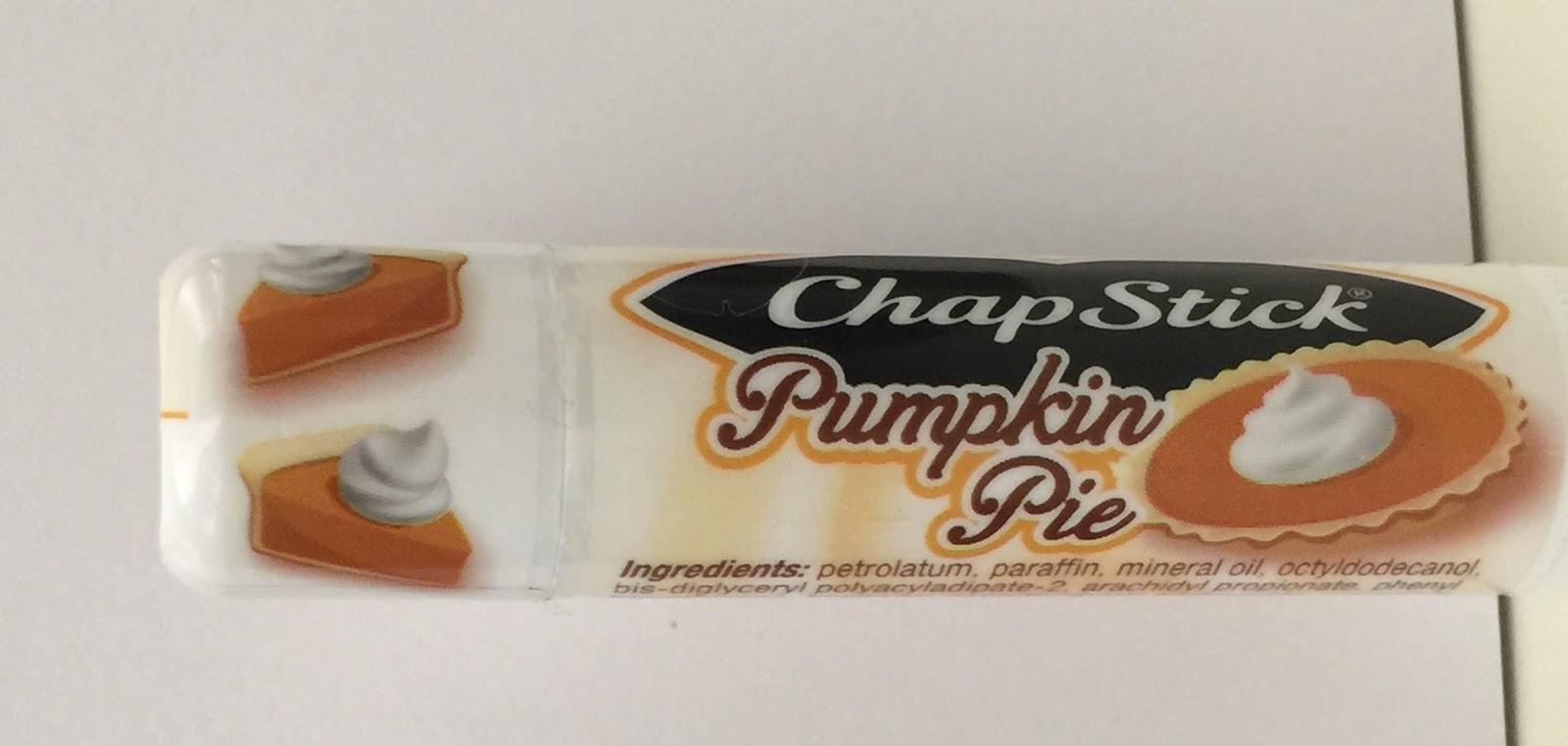 pumpkin pie chapstick