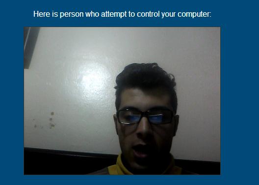 إجعل حاسوبك يلتقط صورة  لأي متطفل على الجهاز  وإرسالها  عبر  الإيميل
