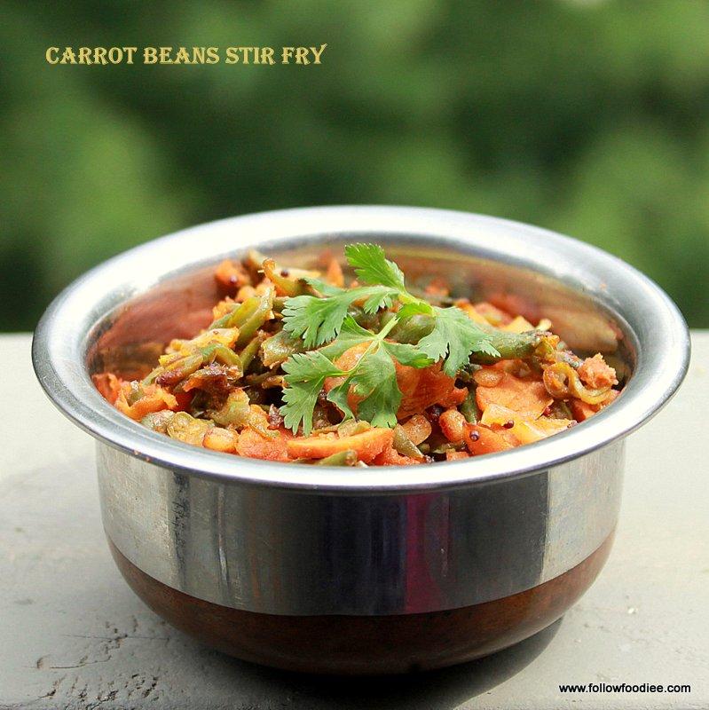 Carrot Beans stir fry / Carrot beans poriyal