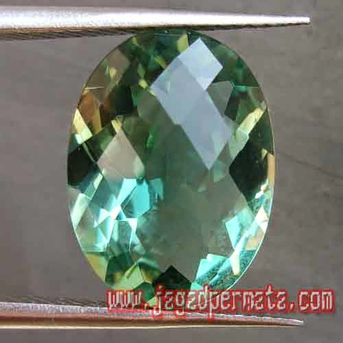 Batu Permata Natural Green Quartz Prasiolite