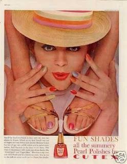 imagen publicitaria de la marca de esmaltes Cutex