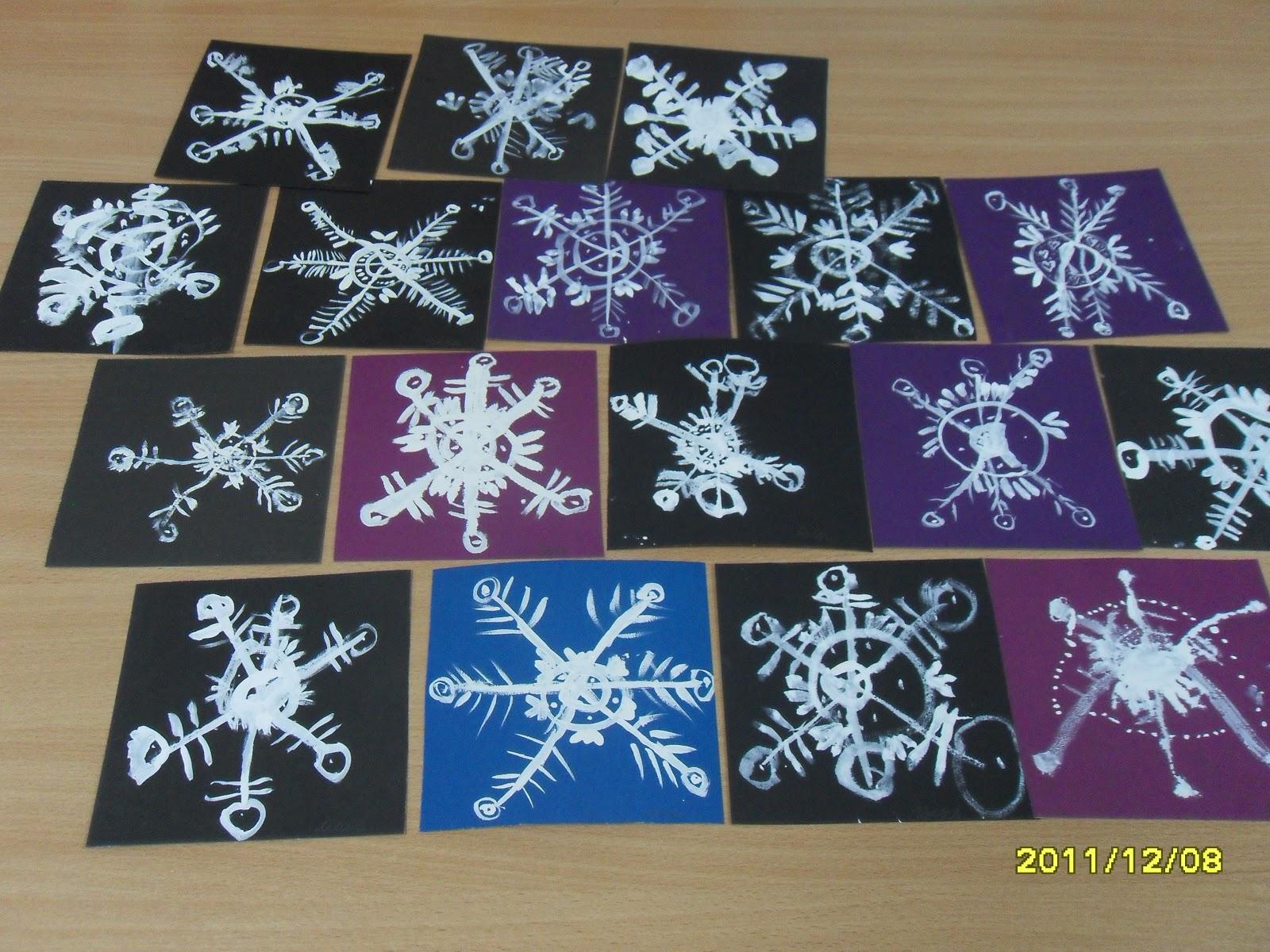 Снежинки для детей видео