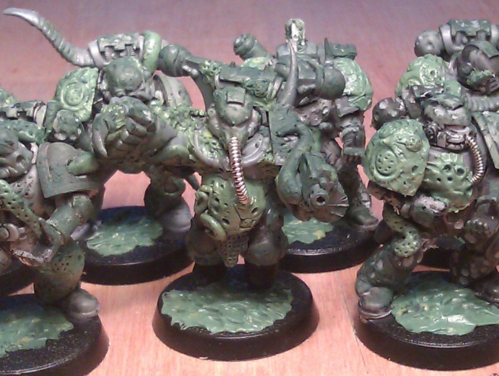 valknut painting wip nurgle plague marines flamers squad 1 complete. Black Bedroom Furniture Sets. Home Design Ideas