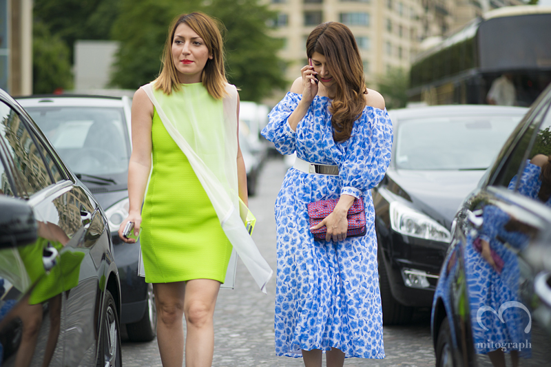 mitograph Asya Mkhitaryan and Nina Vas Before Giorgio Armani Prive Paris Haute Couture Fashion Week 2013 Fall PFW Street Style Shimpei Mito