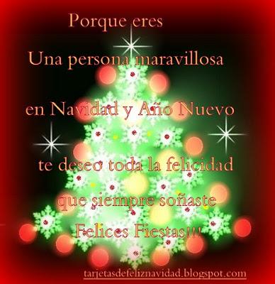 Tarjetas de Navidad con arboles navideños-1