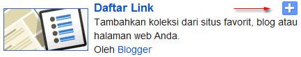 daftar link widget