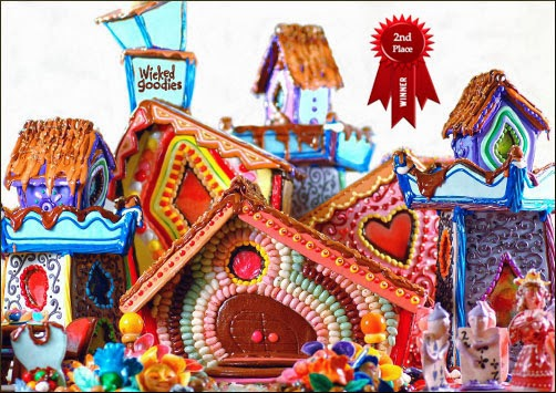 Alice In Wonderland Gingerbread art House By Wicked Goodies