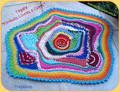 Free Form Crochet - Tapete Formas Livres e Cores