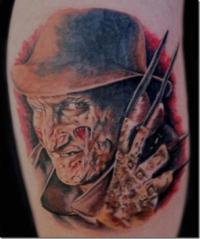 filmes, tatuagens, imagens, cinema, a hora do pesadelo, 25 tatuagens baseadas em filmes, arte corporal cinematográfica, eu adoro morar na internet