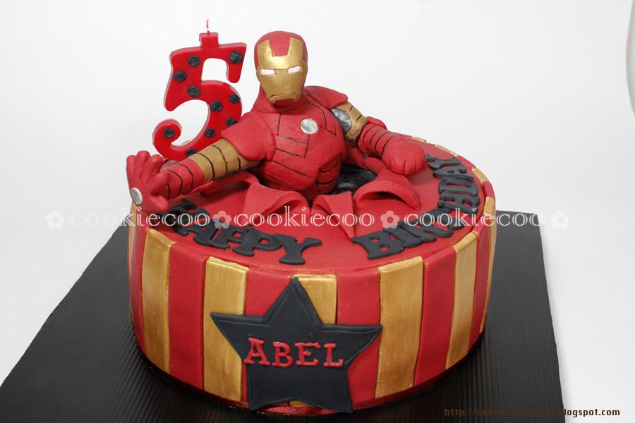 cookiecoo Ironman cake for Abel