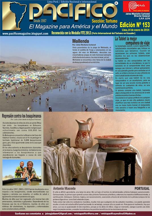 Revista Pacífico Nº 153 Turismo