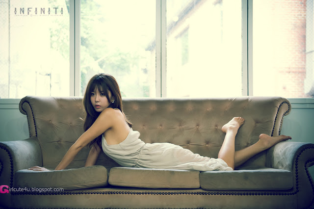 3 Heo Yoon Mi in Beige Dress-Very cute asian girl - girlcute4u.blogspot.com
