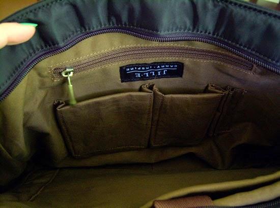 "Jill-e Designs Sasha 15"" Laptop Bag small inner pockets"