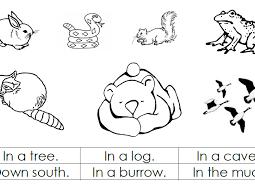 Animal Hibernation Printable Worksheets