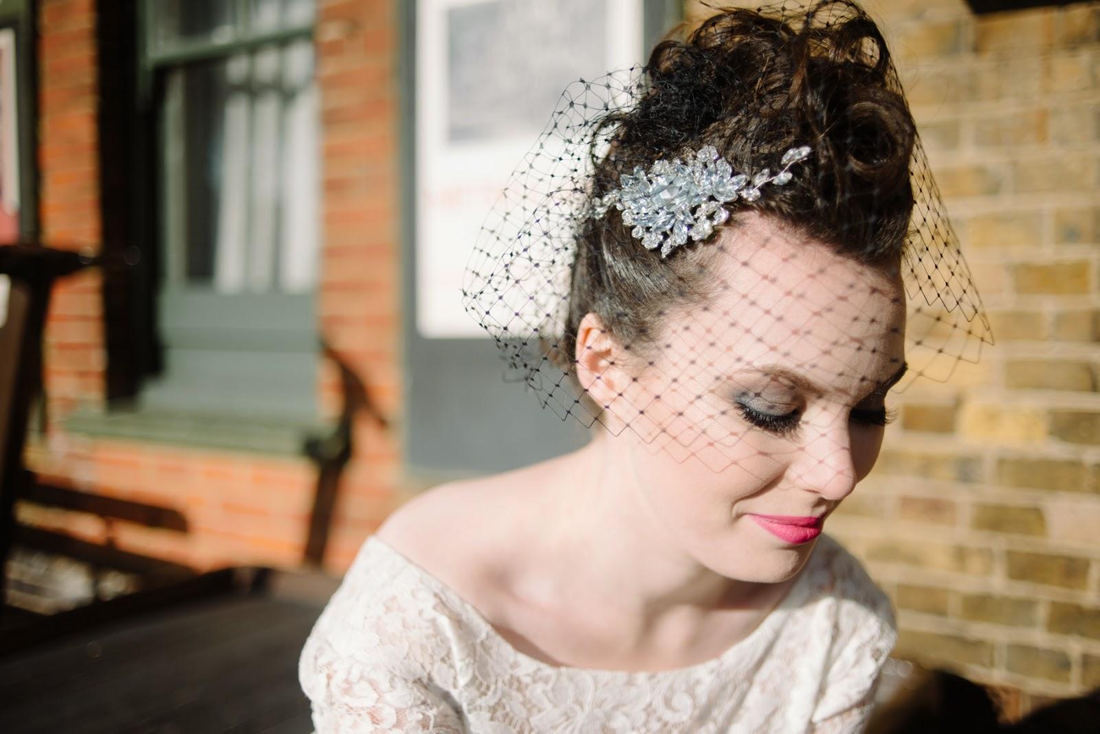 black veil, black wedding headpiece, black wedding jewellery,