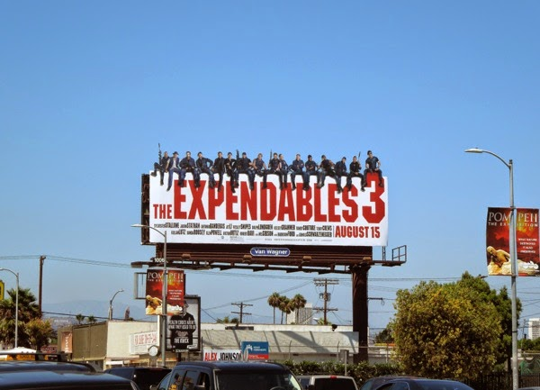 Expendables 3 movie billboard