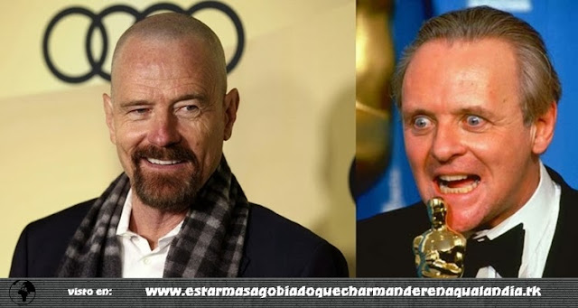 Anthony Hopkins admirado por la interpretación de Bryan Cranston