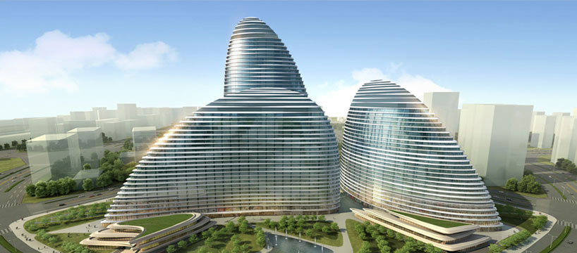 Fibonacci sequence modern beijing wangjing soho by zaha for Fibonacci architecture