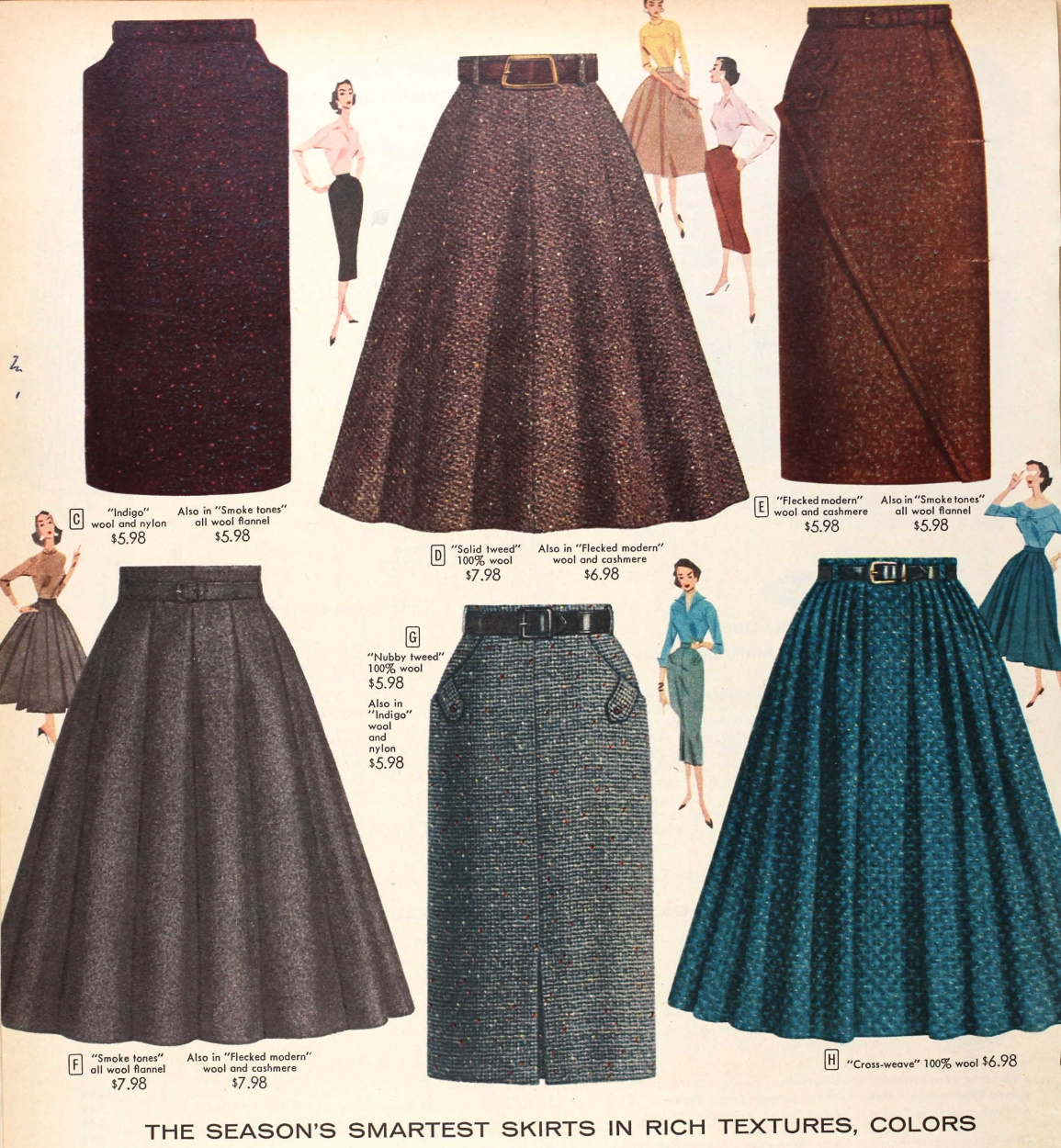 Tuppence Ha&-39-penny: Cold Weather Vintage: Skirts &amp- Dresses