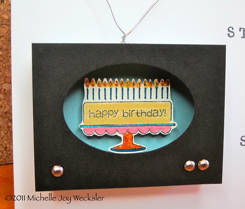 Figments of my imagination matchbox die television birthday card finally i stamped the greeting using calendar alphabet numbers and basic black ink i hope you like it fyi this card cant fit in an envelope its bookmarktalkfo Images
