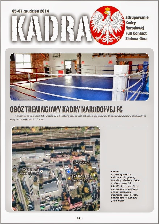 zgrupowanie, kadra, full contact, kickboxing, Polska, sport, Zielona Góra, treningi, akademia