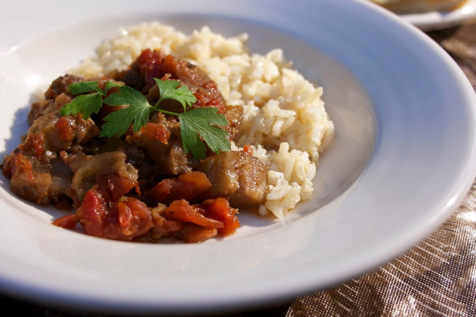 Slow Cooker Indian Eggplant- Bhurtha- simplelivingeating.com