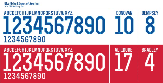 USA WC 2014 Font