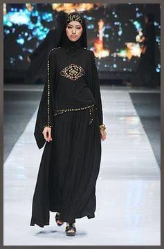 Model Baju Muslim Warna Hitam Terbaru Model Baju Muslim