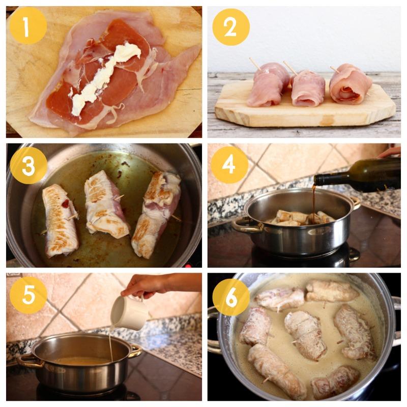 Foto: Como hacer paso a paso receta de rollitos de pavo con jamon y queso