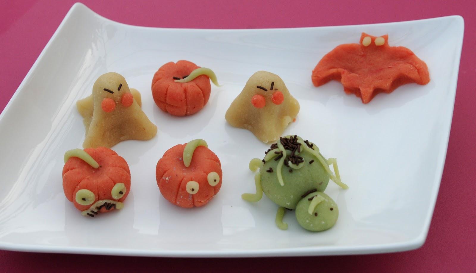 13 desserts chacun p te d 39 amandes maison pour halloween - Pate a sel maison ...
