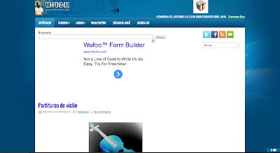 """tocapartituras.com """"Partituras de Violín"""" sale publicado en componemos.es Web de Producción Musical y sonido, así cómo tutoriales y difusión musical"""