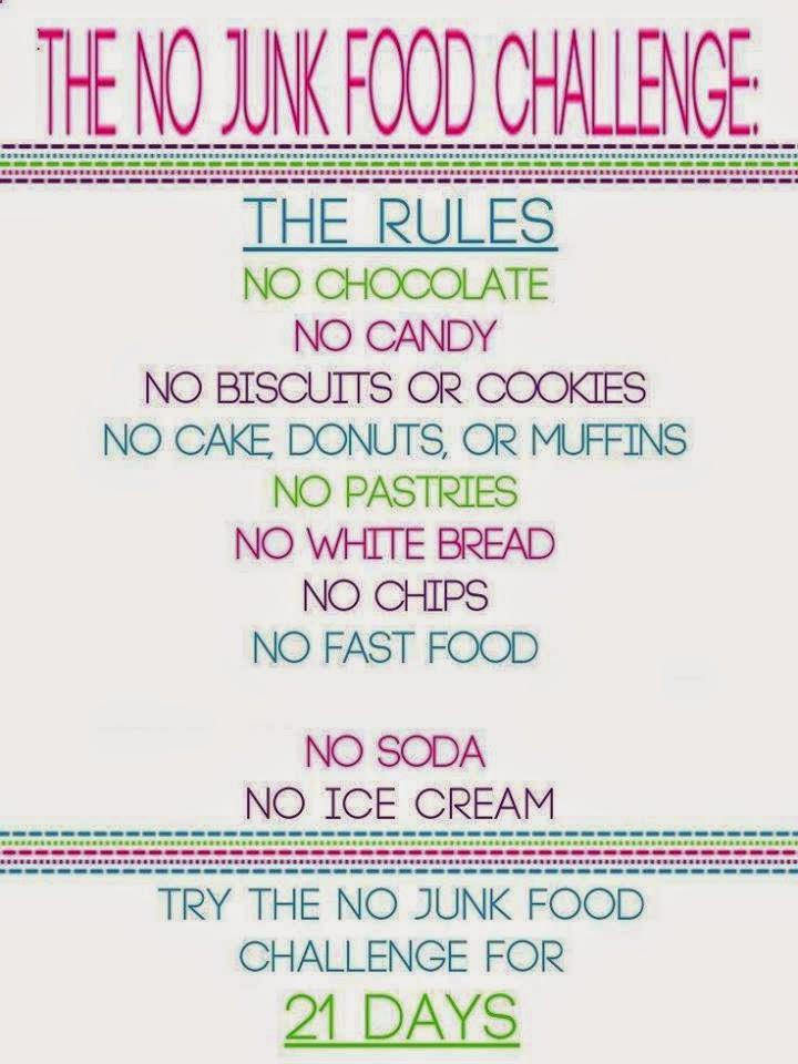 My real life by Yvonne: The 21 day No Junk Food challenge!