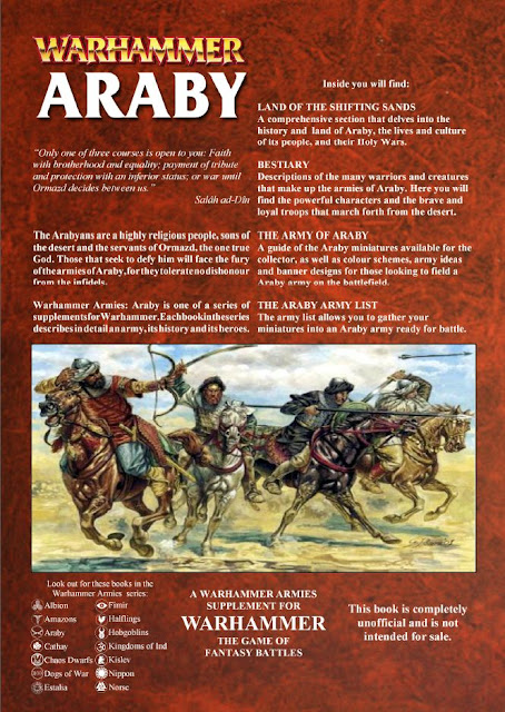back of Araby Warhammer Fantasy Army book