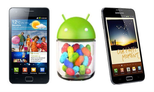 galaxy s2 and galaxy note jelly bean update in february
