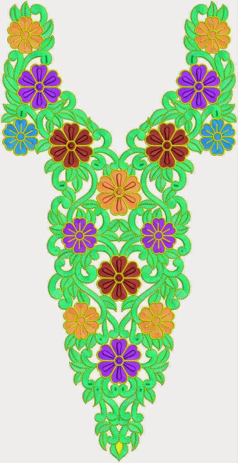 Blomme werk V vormige nek ontwerp