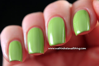 key lime New Barry M Gelly Collection Swatches
